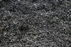 Black Mulch Color Enhanced Chips
